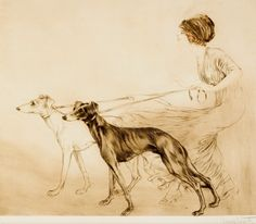 Collecting vintage Sighthound images is one of my favorite pastimes. Recently I was thrilled to discover a new artist, Louis Icart . Icart...
