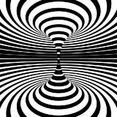 Generative Art Op-art animations: There´s a lot designers can do with just black and white. A collection of op-art inspired animated art, black & white only! Illusion Kunst, Optical Illusion Gif, Illusion Art, Optical Illusions, Brain Illusions, Gif Black, Black And White, Art Pop, Animiertes Gif
