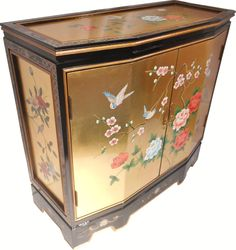 Find A Large Ortment Of Gold Leaf Painted Oriental Cabinets At Cost Shipping From Norwalk Furniture Warehouse