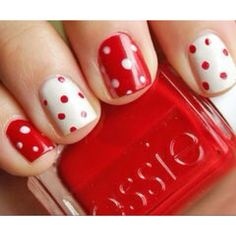This would be a cute for a wedding. White for bride, red for bridesmaids :)