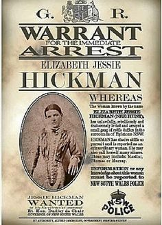 Pat Studdy-Clift's book, a wanted poster and bushranger Elizabeth Jessie Hickman. Vintage Advertisements, Vintage Ads, Vintage Posters, History Timeline, History Facts, Old West Outlaws, Famous Outlaws, Old West Town, Old West Photos