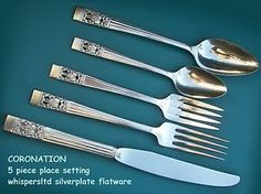 CORONATION-BuY-the-Piece-Oneida-Community-1936-Silverplate-Flatware Oneida Community, Flatware, Infographics, Silver Plate, Dishes, Tableware, Stuff To Buy, Dinnerware, Info Graphics