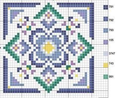 biscornu.Sewing pattern graph: cross stitch, plastic canvas.