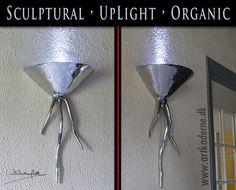 Medusa wall bracket lamp - Uplight lampe fra #DavidMarshallDesign #Heminredning #inredning Anderledes #Brugskunst se www.artkaderne.dk/DM