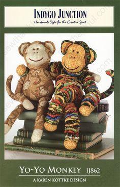 Yo-Yo Quilt Patterns Free | Yo-Yo-Monkey-sewing-pattern-Indygo-Junction-IJ862-front.jpg