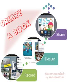 An app letting kids create a digital book of their own. They can put in pictures, texts, voices, even videos, and publish the book as iBook. #kidsapps #art #creativity #apps
