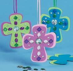 Jewelled christian cross craft - 12 pack