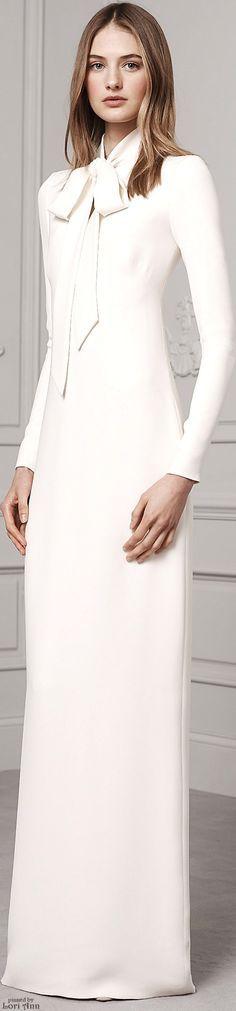 Ralph Lauren Pre-Fall 2016 white maxi women fashion outfit clothing style apparel RORESS closet ideas
