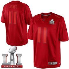 Nike Falcons #11 Julio Jones Red Super Bowl LI 51 Men's Stitched NFL Drenched Limited Jersey