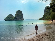 One of the most breathtaking beaches in Thailand, Railay Beach boasts stunning white sands, azure blue waters and towering limestone cliffs. It's a must-see if you like being on the beach