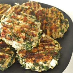 These healthy, hearty burgers are great to enjoy on the grill, or in your kitchen on a griddle! Lean turkey burgers packed with spinach, oats, and feta make a satisfying and easy lunch.