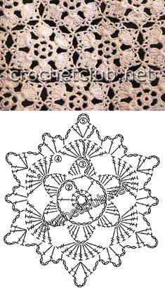 Transcendent Crochet a Solid Granny Square Ideas. Inconceivable Crochet a Solid Granny Square Ideas. Crochet Bedspread Pattern, Crochet Snowflake Pattern, Crochet Motifs, Crochet Snowflakes, Crochet Diagram, Doily Patterns, Crochet Chart, Crochet Squares, Thread Crochet