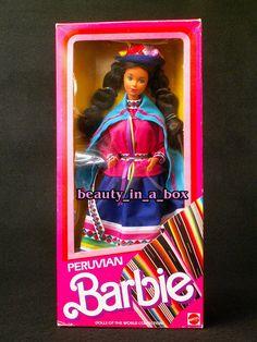 Peruvian Barbie First Edition 1st Series Early Dolls of the World Peru 1985 1986 #Mattel #Dolls