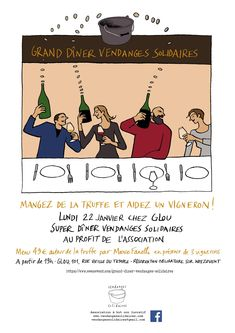 Paris Food & Drink Events: GRAND DÎNER Vendanges Solidaires January 22 @ 19:00 - 23:30	€49