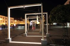 LIGHT EXPO 2015 light&design, SNP Square, Banská Bystrica, Slovakia - Photo: Courtesy of Bellatrix - Lighting products: iGuzzini Illuminazione #Trick #Graphiclighting #iGuzzini #Lighting #Light #Luce #Lumière #Licht #Inspiration #Effetti #LightingEffect #Experience
