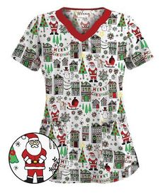 get festive with our exclusive uniform advantage christmas scrubs holiday scrubs shop now before our christmas print tops are all gone - Christmas Scrub Top