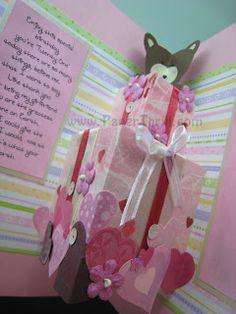 bear handmade pop up birthday card