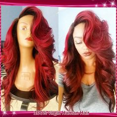 Find More Human Wigs Information about 2015 Black/Red Two Tone Ombre U Part Wig Glueless Lace Front Human Hair Wigs/Brazilian Virgin Full Lace Wigs With Bleached Knots,High Quality wig cap wig,China wig pink Suppliers, Cheap wig mannequin from QD Dinghao Hair Products CO.,LTD on Aliexpress.com