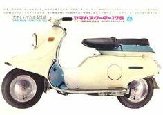 ヤマハ・スクーター175 1960 Yamaha Scooter, Yamaha Motor, Motor Scooters, Vespa Scooters, Motorcycle Posters, Retro Motorcycle, Suzuki Motorcycle, Quad, 4 Wheelers