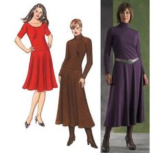 Dress Patterns - Kwik Sew Dresses Pattern. I could use the red dress pattern for a SS Zelda cosplay:)