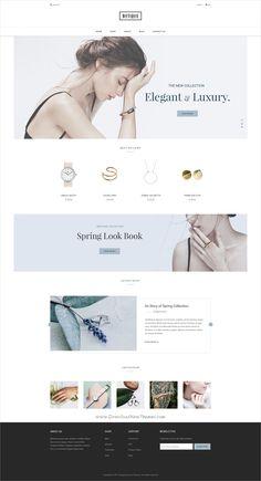 Botique - Responsive Multi-Purpose eCommerce PSD Template by AuThemes Website Design Inspiration, Best Website Design, One Page Website, Website Ideas, Website Themes, Free Website, Layout Design, Website Design Layout, Web Layout