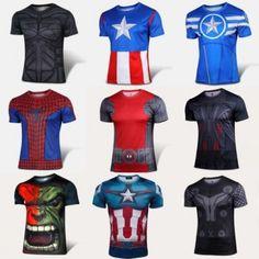 nuevas super camisetas de los mejores super heroes  irrestitible precio solo 9,99€ la mas alta calidad en material.