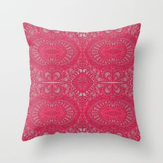 SOLD Mehndi Ethnic Style G343 Throw Pillow! https://society6.com/product/mehndi-ethnic-style-g343_pillow#s6-4362436p26a18v126a25v193 #Society6 #Mehndi #Ethnic #red #Throw #Pillow #home #homedecor #patter #floral #textile