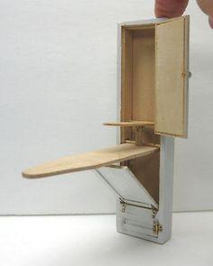 Vintage Dollhouse Miniature Ironing Board Cabinet Unit | eBay