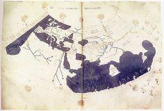 La carte de Ptolémée est basée sur la description du monde contenue dans l'ouvrage de Ptolémée Geographia, écrit vers 150 de notre ère #maps