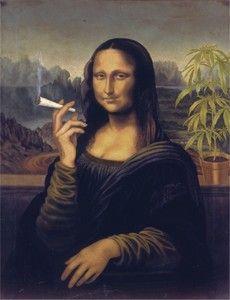 Mona Lisa Joint Fine art humour metal
