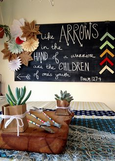 Arrows Themed Baby Shower for my baby boy #6, thrown for me by @Annalea Hart.