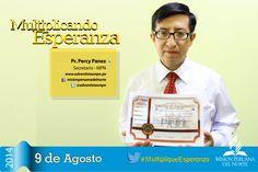 Pr. Percy Panez nos hace recordar este 9 de agosto que todos somos #MultipliqueEsperanza