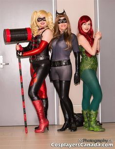Harley Quinn, Catwoman, Poison Ivy