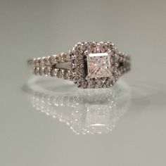 Diamond Ring, Princess, Ideal Cut