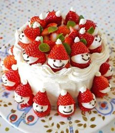 Strawberry Santa Cake (inspiration only)