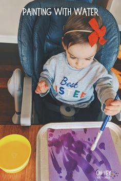 Activities For One Year Olds, Fun Activities For Toddlers, Gross Motor Activities, Montessori Activities, Hands On Activities, Infant Activities, Water Activities, Vocabulary Activities, Family Activities