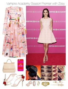 """Vampire Academy Season Premier with Zoey"" by jdyolaleye ❤ liked on Polyvore"
