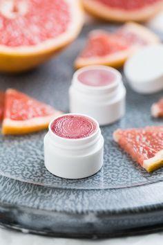 Homemade Pink Grapefruit Lip Balm