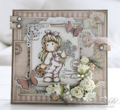 Tilda with Daisies & Mushrooms / Cards by Camilla