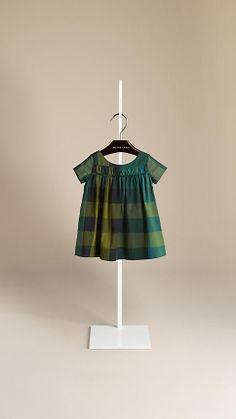 Frill Detail Check Dress | Burberry