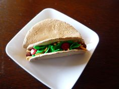 American Girl food. Taco by FauxRealFood on Etsy