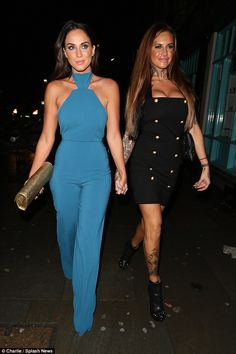 Contrast: Jemma's short and punky mini-dress was in stark contrast to Vicky's jumpsuit...
