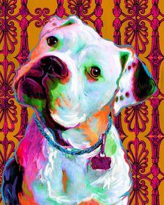 """Riley the American Bulldog print"" OMG MY AMERICAN BULLDOGS NAME IS RILEY!"