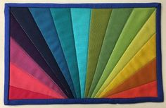 (7) Name: 'Quilting : Rainbow Burst Mug Rug