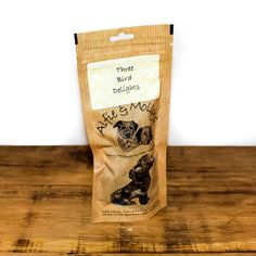 A delicious air-dried dog treat; Alfie & Molly's Three Bird Delights! A delectable combination of gently air-dried chicken, duck and turkey hearts, liver and gizzards.