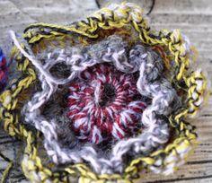 Uldblomster til tørklædet