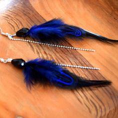 Boucles d'oreilles plumes kishy - ethnic feather - bijoux ethniques - bijoux indiens - boho -