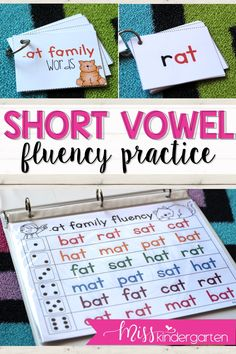 Make teaching reading fluency fun for your struggling readers. These ideas are perfect to aide in learning during small groups   in any kindergarten or first grade classroom. Your students will beg to use these activities daily!#kindergarten #readingfluency #misskindergarten
