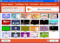 A few resources for teaching & practising directions in Spanish. See the free pdfs below, which were printed from a TaskMagic3 Picture match file using doPDF - www.dopdf.com   Matching:      ...