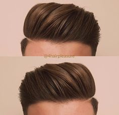 Men New Hair Style, Gents Hair Style, Hipster Hairstyles, Cool Hairstyles For Men, Hair And Beard Styles, Curly Hair Styles, Skin Fade Pompadour, Mens Hairstyles Pompadour, Faded Hair